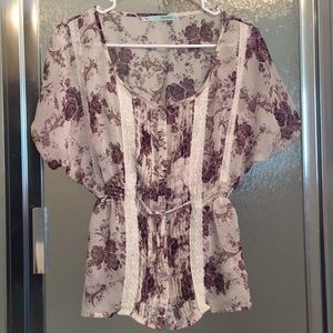 Maurices peplum top with matching bracelet